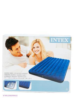 Надувной матрас Intex. Цвет: синий