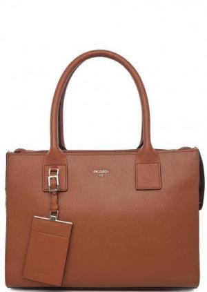 Коричневая сумка из натуральной кожи Picard. Цвет: коричневый