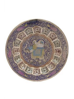 Декорация настенная ETHNIC CHIC. Цвет: синий, золотистый, фуксия