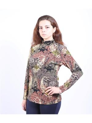 Водолазка Yuliya Shehodanova. Цвет: черный, желтый, терракотовый