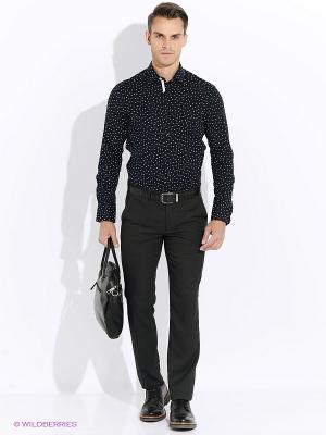 Рубашка Club21. Цвет: темно-зеленый, антрацитовый, черный