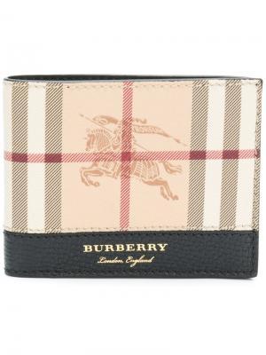 Haymarket check billfold wallet Burberry. Цвет: телесный