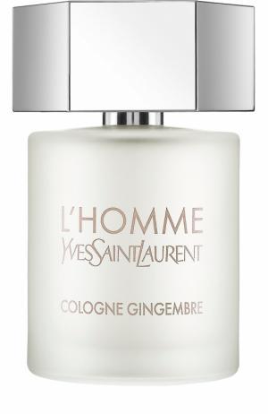Туалетная вода L`Homme Cologne Gingembre YSL. Цвет: бесцветный