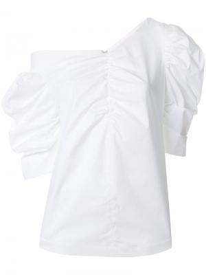 Блузка со сборками Isa Arfen. Цвет: белый