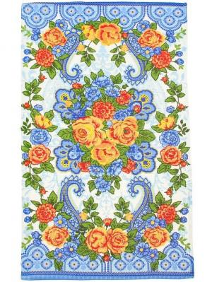 Полотенце вафельное 2 шт., Посадские мотивы, 33*60 см Радужки. Цвет: голубой