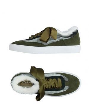 Низкие кеды и кроссовки JOYKS. Цвет: зеленый-милитари