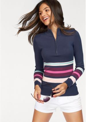 Пуловер AJC. Цвет: синий/ярко-розовый/розовый