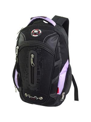 Рюкзак Stelz. Цвет: черный, фиолетовый