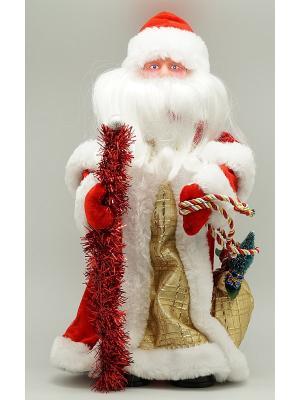 Фигурка декоративная Дед мороз 41см красный с золотом Яркий Праздник. Цвет: красный