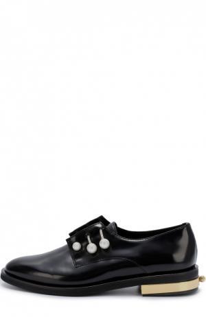 Кожаные ботинки Fernanda с декорированными булавками Coliac. Цвет: черный