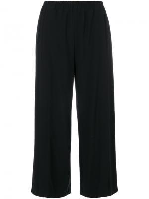 Широкие укороченные брюки Helmut Lang. Цвет: чёрный