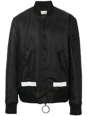 Куртка-бомбер на молнии Off-White. Цвет: чёрный