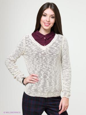 Пуловер Solo Farfalle. Цвет: светло-бежевый