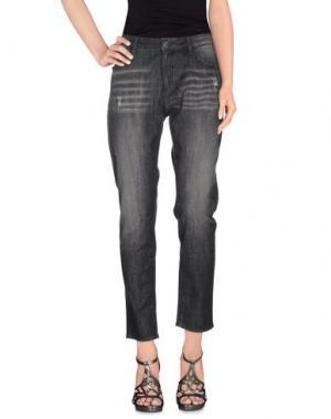 Джинсовые брюки REBEL QUEEN. Цвет: черный