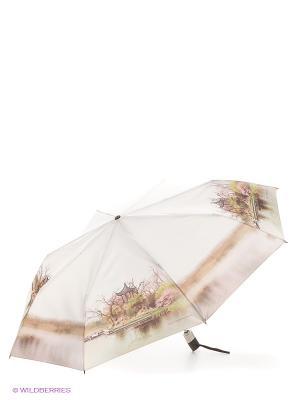 Зонт Zest. Цвет: белый, зеленый