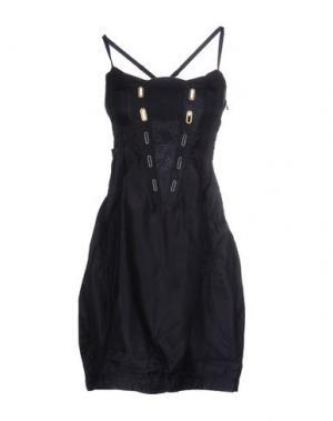 Короткое платье LE JEAN DE MARITHÉ + FRANÇOIS GIRBAUD. Цвет: темно-синий