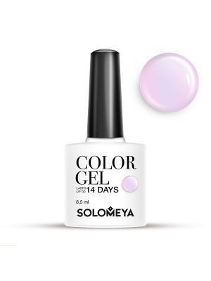 Гель-лак Color Gel Тон Pinkish SCG124/Розоватый SOLOMEYA. Цвет: бледно-розовый