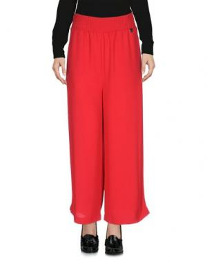 Повседневные брюки NAUGHTY DOG. Цвет: красный