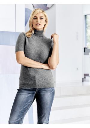 Пуловер с короткими рукавами PATRIZIA DINI. Цвет: цвет белой шерсти, цикламен, черный