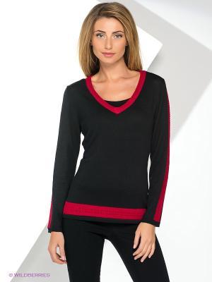 Пуловер Yuka. Цвет: черный, бордовый