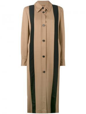 Длинное пальто с полосками Aalto. Цвет: телесный