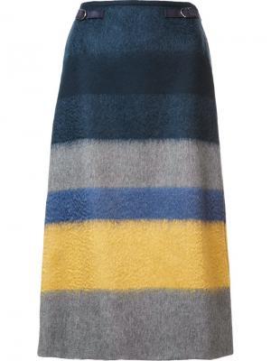 Striped A-line skirt Gabriela Hearst. Цвет: многоцветный