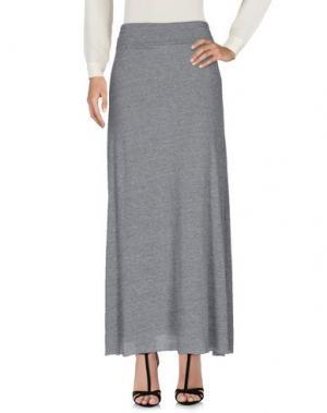 Длинная юбка ALTERNATIVE EARTH. Цвет: серый