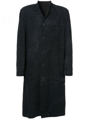 Двухстороннее пальто  Forme Dexpression D'expression. Цвет: чёрный