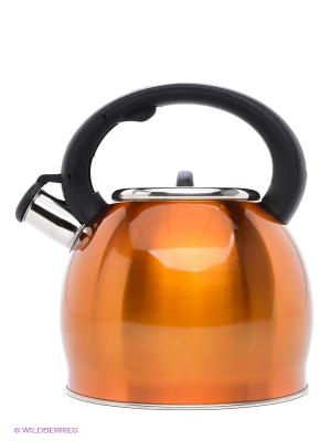 Чайник металлический Bekker. Цвет: оранжевый