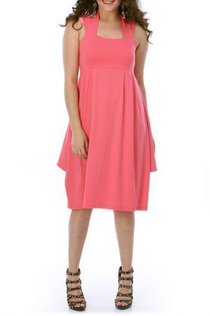Платье VALERIA FRATTA. Цвет: розовый