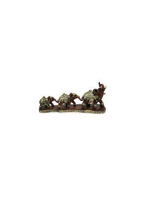 Фигурка декоративная Слоны Русские подарки. Цвет: коричневый, кремовый