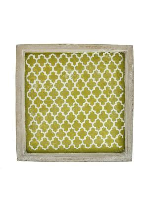 Тарелка декоративная RICH LINE Home Decor. Цвет: серый, желтый
