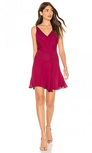 Платье cassidy Haute Hippie. Цвет: красное вино