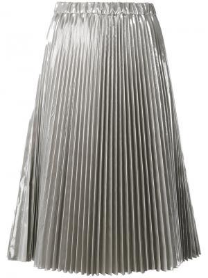 Плиссированная юбка миди Nº21. Цвет: металлический