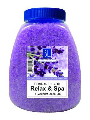 Spa by Lara Соль морская для ванн с растительными эстрактами Relax & 1000 г. Цвет: фиолетовый