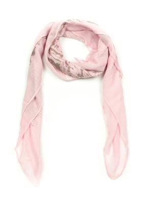 Платок AnnA Wolf. Цвет: светло-серый, бледно-розовый
