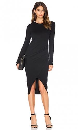 Платье миди viennetta Viktoria + Woods. Цвет: черный