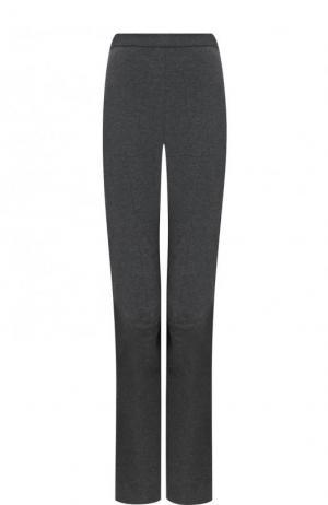 Однотонные расклешенные брюки из шерсти Stella McCartney. Цвет: серый