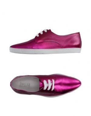 Низкие кеды и кроссовки SWEAR-LONDON. Цвет: розовато-лиловый