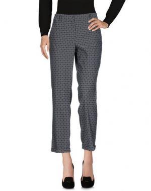 Повседневные брюки BREBIS NOIR. Цвет: свинцово-серый