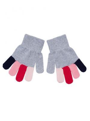 Перчатки PlayToday. Цвет: серый, красный, розовый, синий