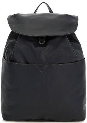 Вместительный рюкзак из мягкой кожи Io Pelle. Цвет: синий
