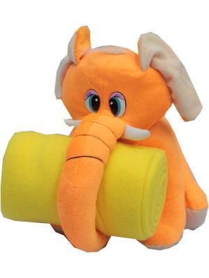 Плед с игрушкой  100*75 см. Dorothy's Нome. Цвет: оранжевый