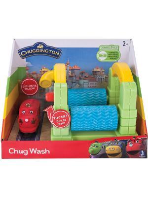 Chuggington мини набор Мойка. Цвет: салатовый, голубой, красный