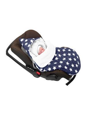 Конверт для новорождённого в автокресло Звездочёт (лето) MIKKIMAMA. Цвет: синий, белый