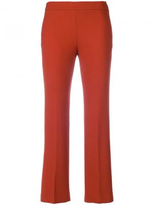 Укороченные прямые брюки Incotex. Цвет: жёлтый и оранжевый