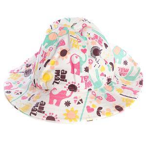 Шляпа женская  Bena Multicolor Animal. Цвет: белый
