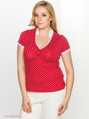 Блузка T&M. Цвет: красный, белый