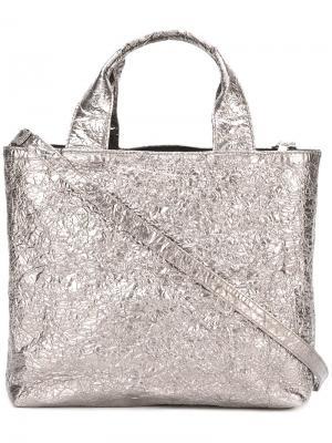 Квадратная сумка-тоут среднего размера Zilla. Цвет: серый