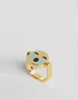 Me & Zena Двустороннее кольцо. Цвет: золотой